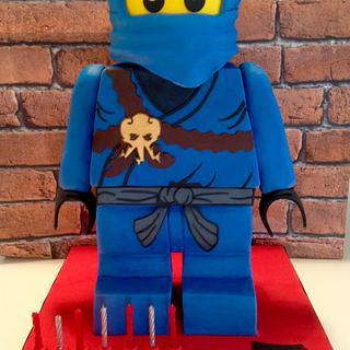 Gravity defying Lego ninjago figure