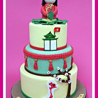 Vietnam christening cake