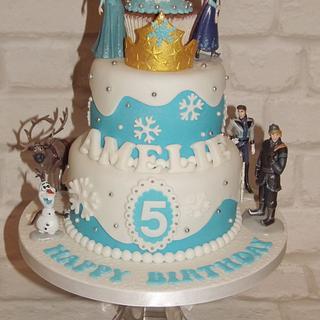 "Frozen ""Inspired"" Mini Tier Cake"