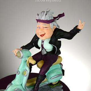 Cool Vespa - grandma
