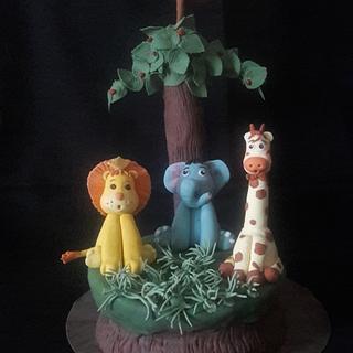jungle cake - Cake by Creative Confectionery(Trupti P)