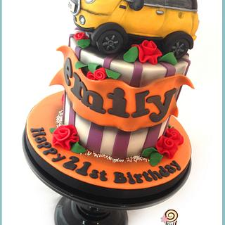 Yellow Mini Car Cake
