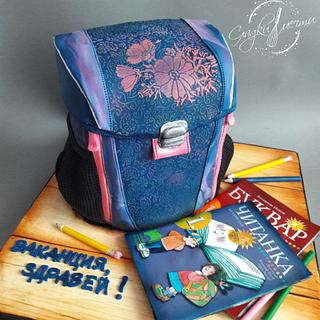 Backpack cake