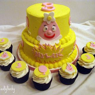 Yo Gabba Gabba Cake & Cupcakes