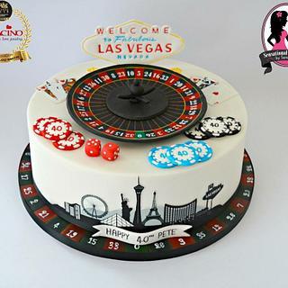 Vegas Roulette themed cake