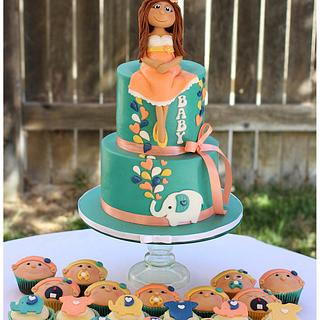 Teal and Peach baby shower!