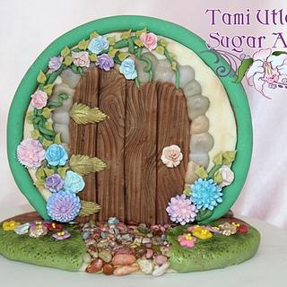 Fairy door stand up cookie