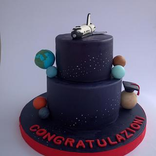 planet space cake - Cake by Mariana Frascella