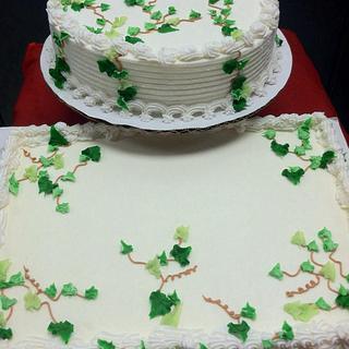 Ice cream wedding cakes