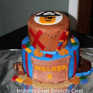 Lego Pirate Cake - Cake by Michelle