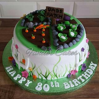 Gardening birthday cake - Cake by Fancier Cakes