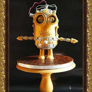 Steampunk Electric Minion !!! - Cake by GorgeousCakesBLR
