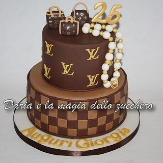 Louis Vuitton cake  - Cake by Daria Albanese