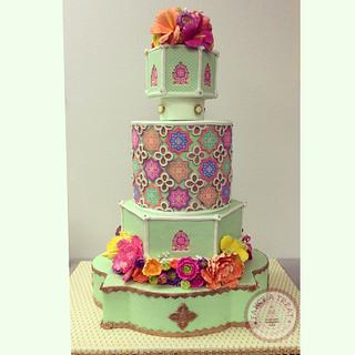 Moroccan Themed Birthday Cake