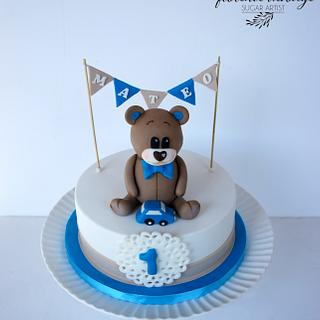 Bear first birthday cake - Cake by Florence Devouge