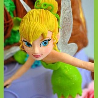 Tinkerbell Cake - Cake by tessatinacakes