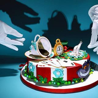 Alice in Wonderland Classic Tiramisu Cake