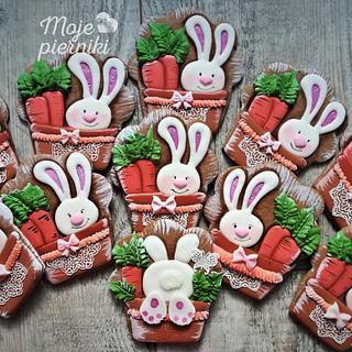 Bunnies - Cake by Ewa Kiszowara