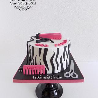 Classy Hairstylist Cake