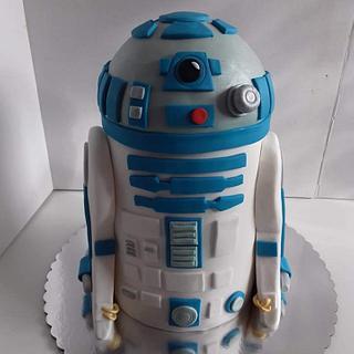 R2D2 cake - Cake by Jelena Brkljac