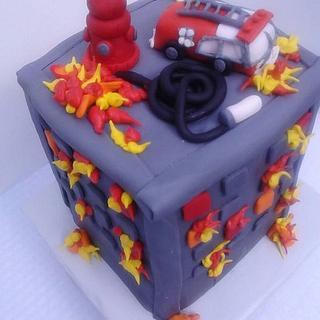 House on Fire Cake