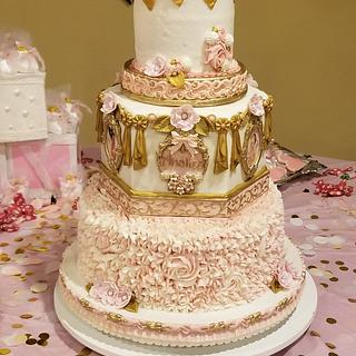"""Heaven Sent"" baby shower cake"