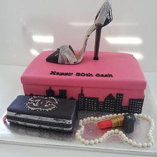Sex In The City Theme Cake - Cake by Creative Cakes By Deborah Feltham
