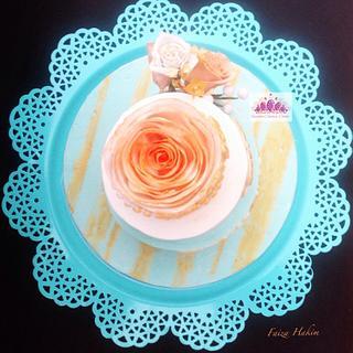 Vintage Rose - Cake by FAIZA