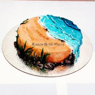 beach and sea - Cake by Neslihan MENTES