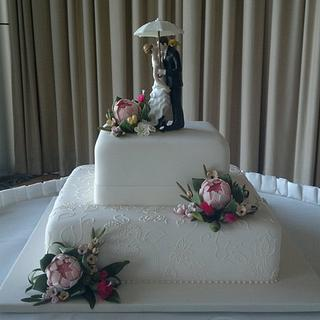 Australian native wedding cake