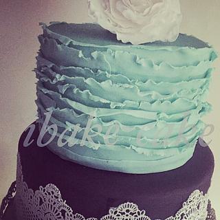 Colourful Elegant wedding cake