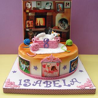 cake for a girl...loving cat! - Cake by COMANDATORT