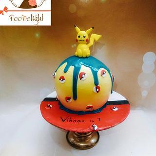 Pikachu sphere cake