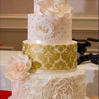 Golden Oasis Dessert Table - Cake by LadyTangerine