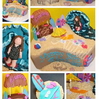 Surfer Girl Cake - Cake by Viviana & Guelcys
