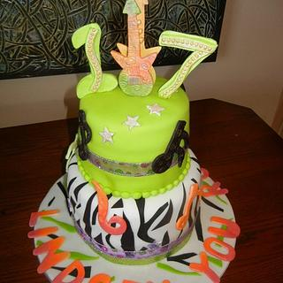 """Rocker"" Birthday cake"