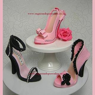 Pink Stilettos - Cake by Mel_SugarandSpiceCakes