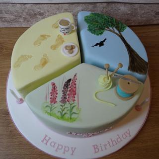 Triple celebration cake