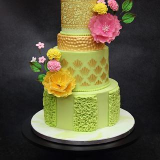 The neon beauty - Cake by Joyeeta lahiri