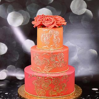 Mehndi inspired cake  - Cake by soods