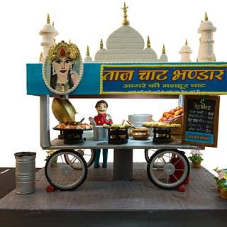 Taj street food cart cake