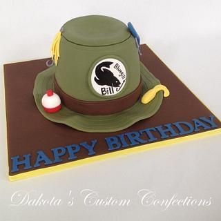 Fishing Hat Birthday Cake - Cake by Dakota's Custom Confections