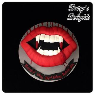 Vampire diaries themed cake