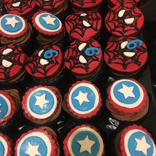 Marvel theme cupcakes