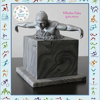 Swimmer sculpture