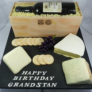 Port and Cheese Board Cake