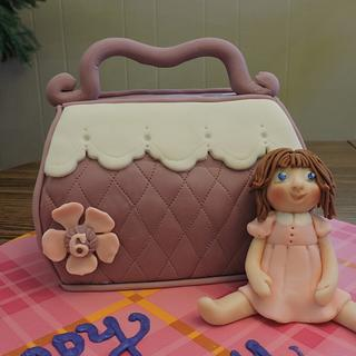 Pocketbook and Doll - Cake by Theresa