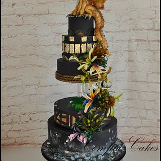 Dragon wedding cake Perth Royal Show 2016 Master Section - Gold