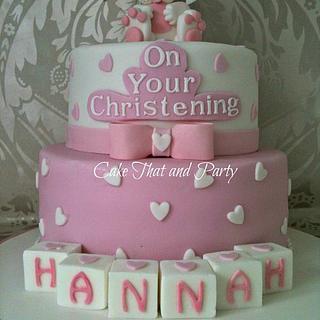 Cute bunny christening cake