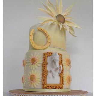 Sunflowers & white horses 50th birthday